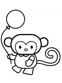 Monkey with balloon