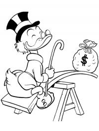 Scrooge McDuck with money