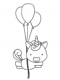 Squirrel with balloons