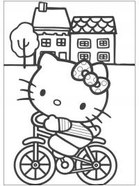 Hello Kitty on the bicycle