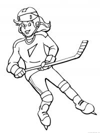 Icehockey girl