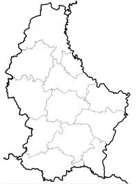 Map of Luxemburg