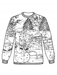 Christmas sweater snowman