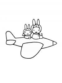 Miffy in the plane