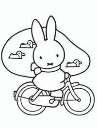 Miffy on a bycicle