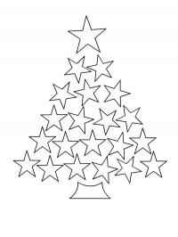 Christmas tree from stars