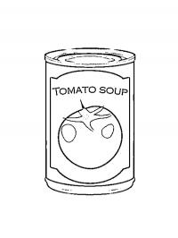 Tomatosoup in can