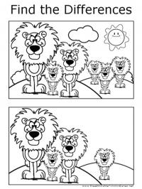 Look for the difference: Lion