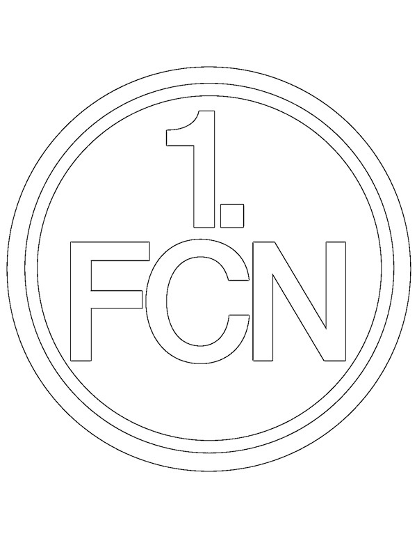 coloring page 1. FC Nürnberg