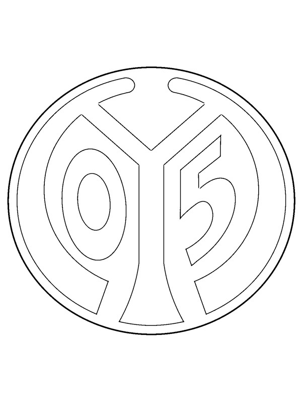 coloring page 1. FSV Mainz 05