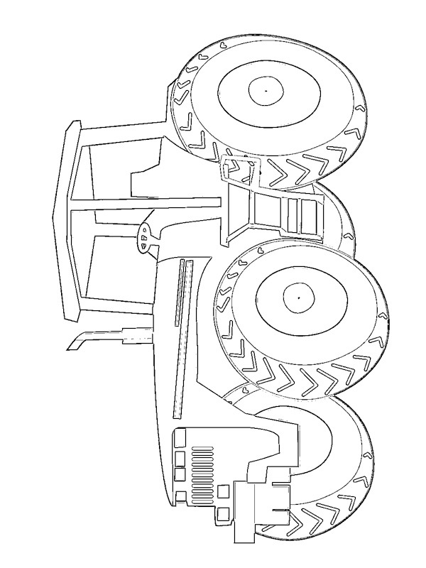 coloring page John Deere Tractor