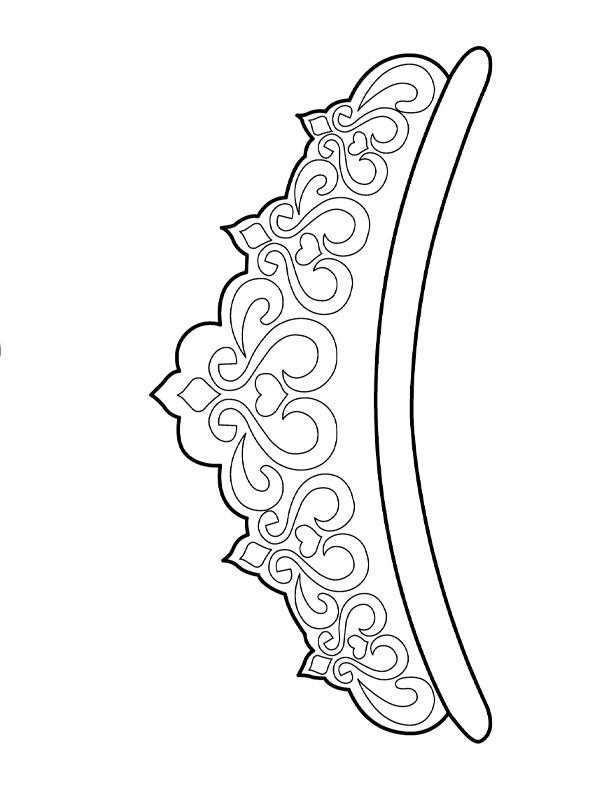 coloring page Princess crown