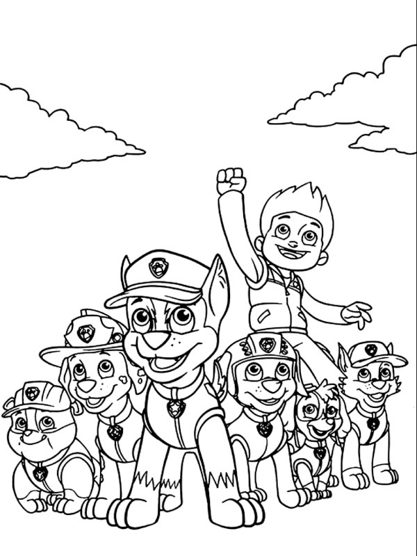 coloring page Paw Patrol