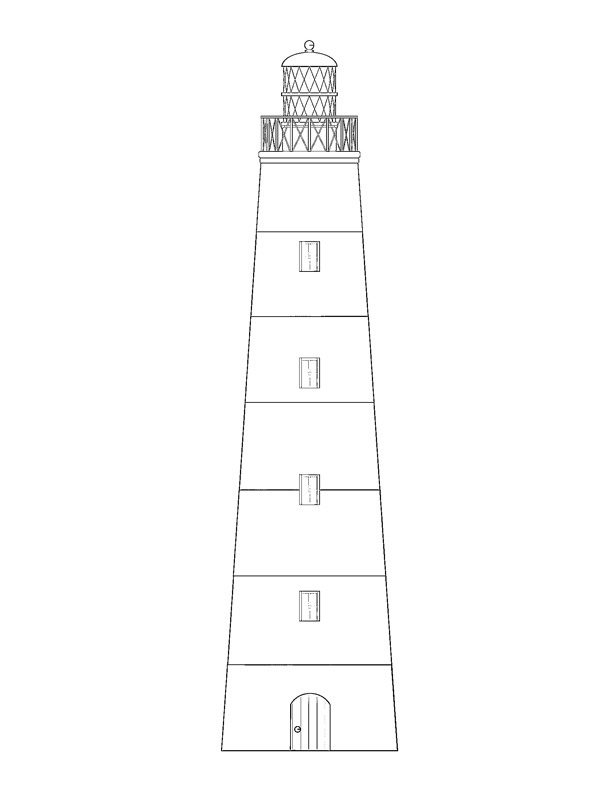 coloring page Lighthouse