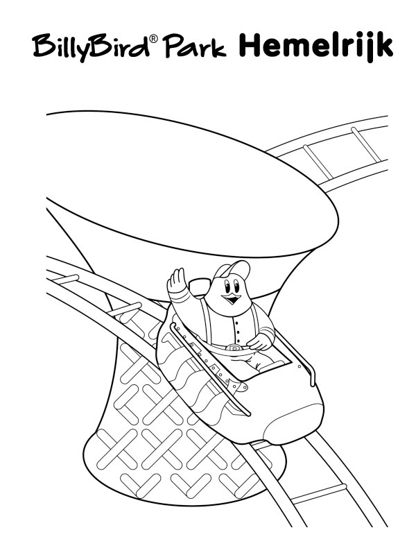 coloring page Rollercoaster billybird