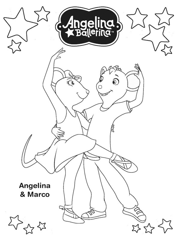 coloring page Angelina and Marco