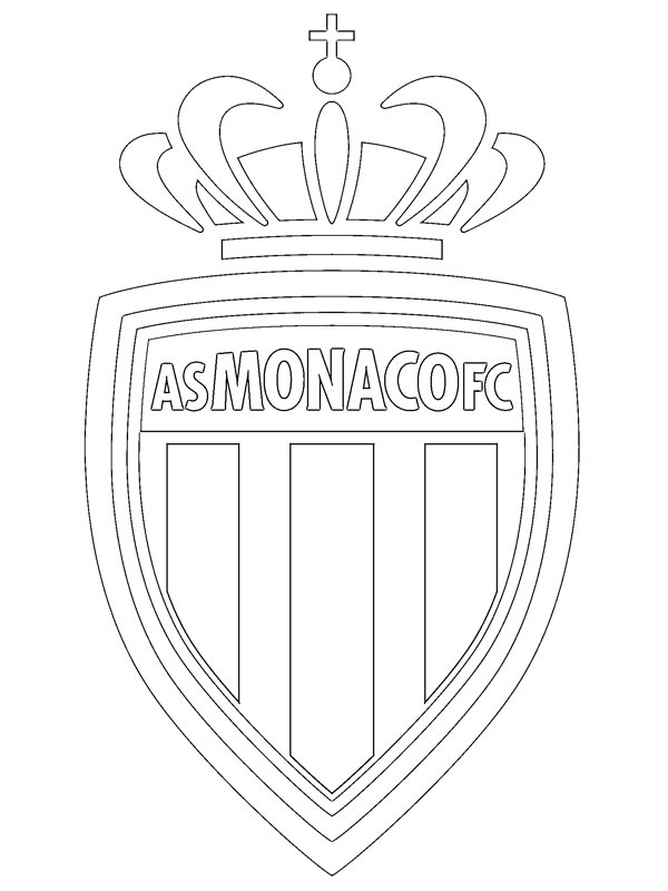 coloring page AS Monaco FC