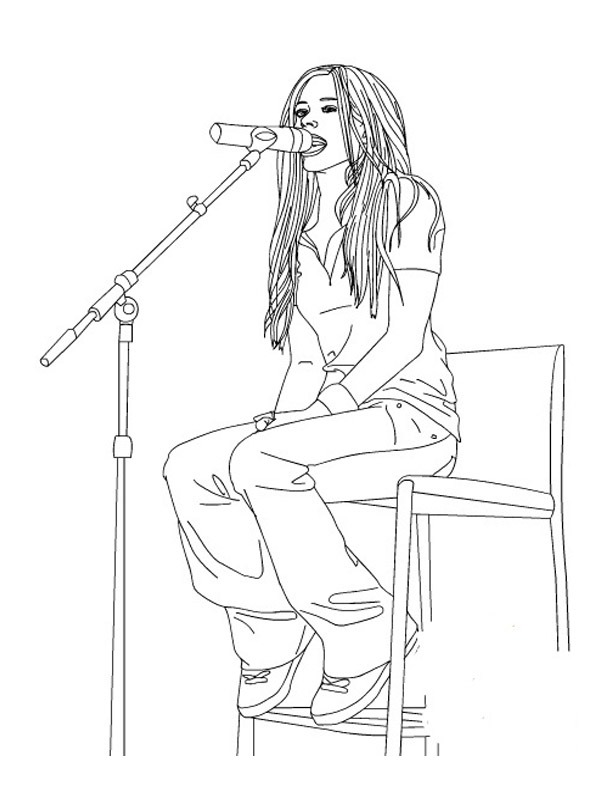 coloring page Avril Lavigne