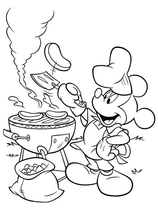 BBQ with mickey Mouse