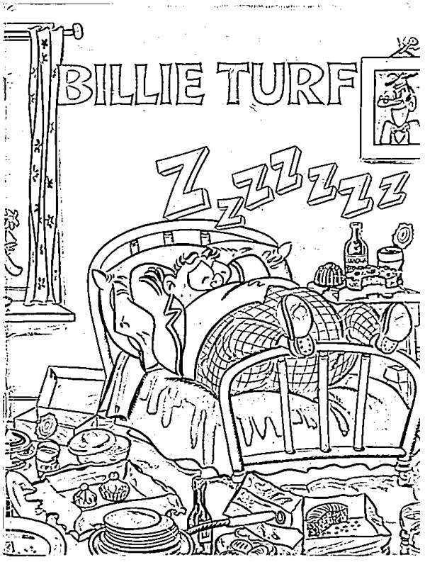 coloring page Billy Bunter sleeps