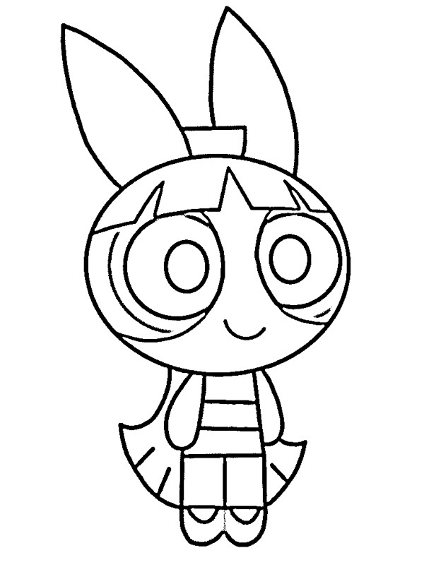 coloring page Blossom (The Powerpuff Girls)