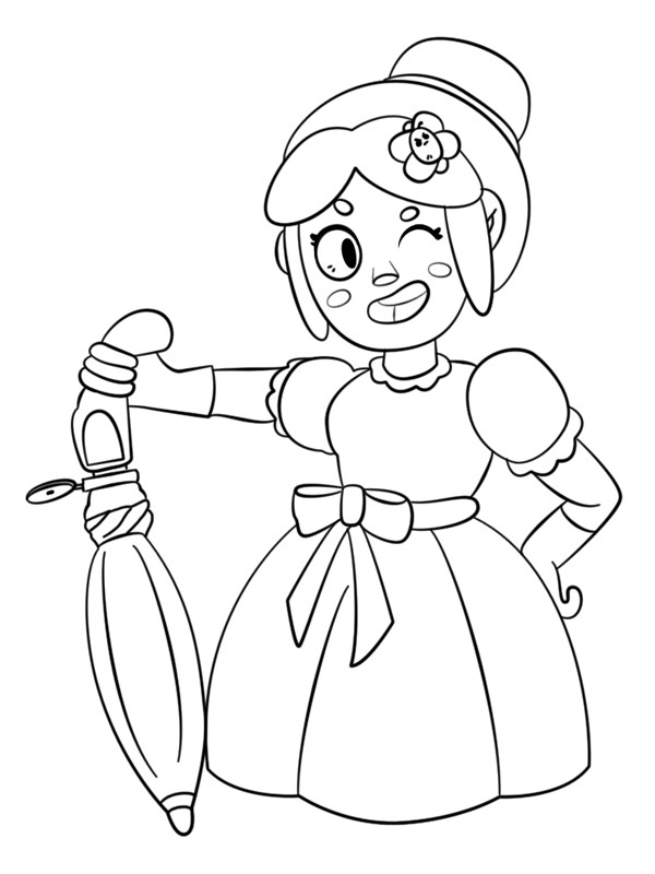 coloring page brawl stars piper