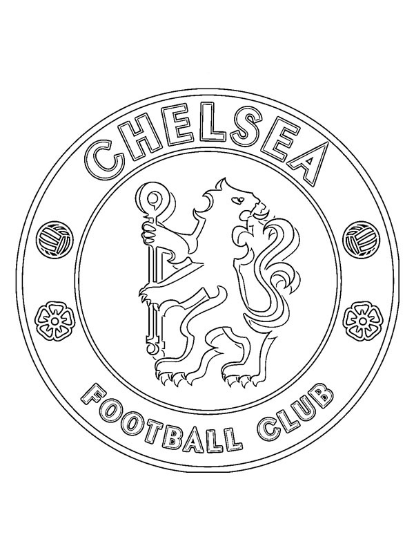 coloring page Chelsea FC