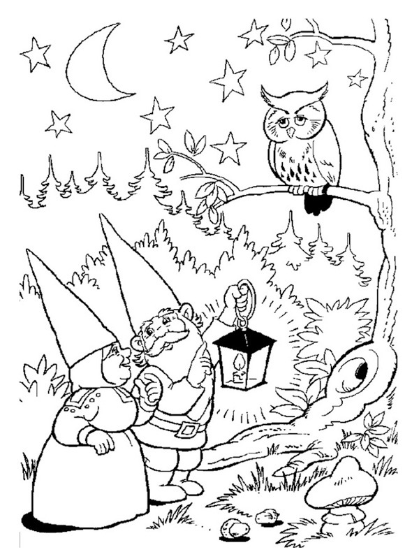 coloring page david the gnome and lisa