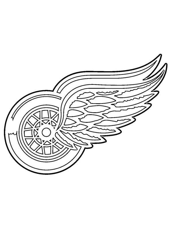 coloring page Detroit Red Wings