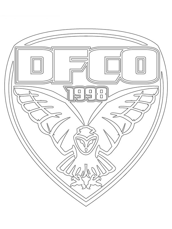 coloring page Dijon FCO