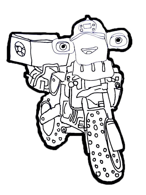 coloring page Don Hoopla Ricky Zoom