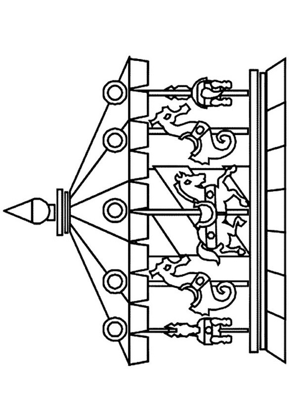 coloring page Carousel