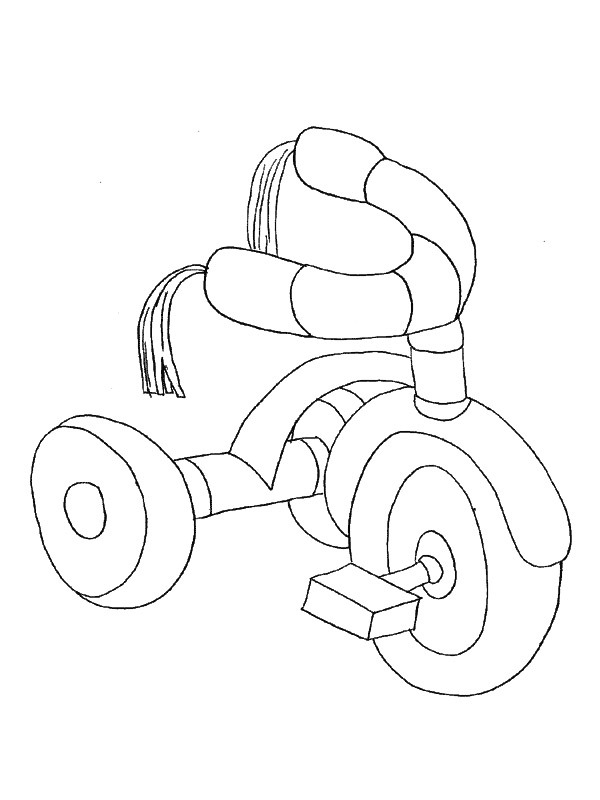 coloring page Tricycle