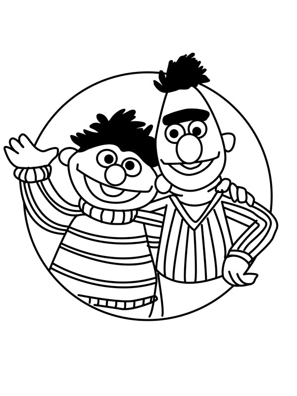 coloring page Ernie and bert