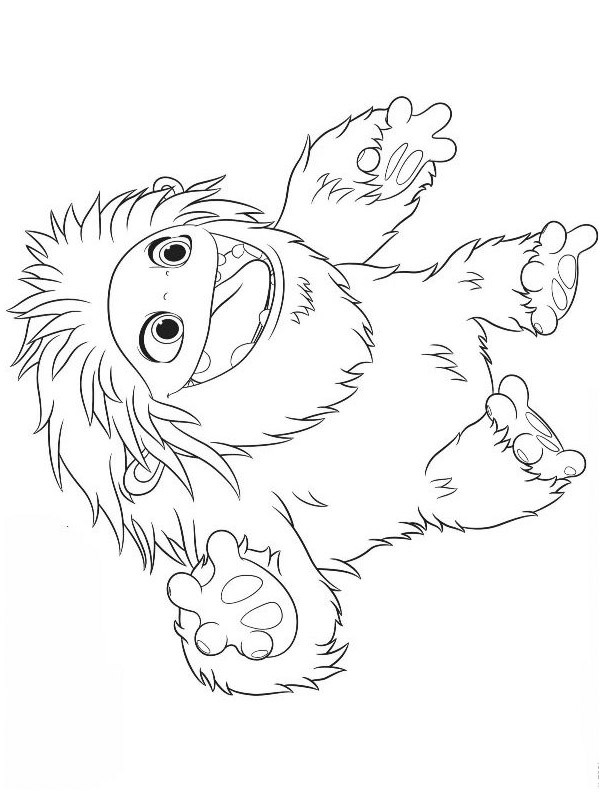 coloring page everest yeti