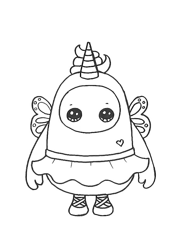 coloring page Fairycorn Fall Guys