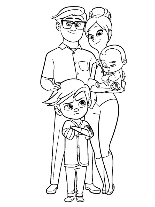 coloring page family templeton boss baby