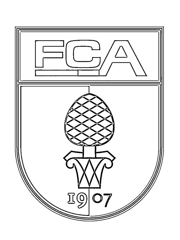 coloring page FC Augsburg