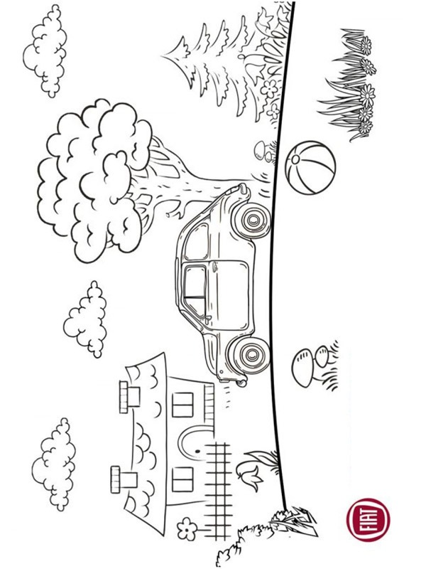 coloring page Fiat 500