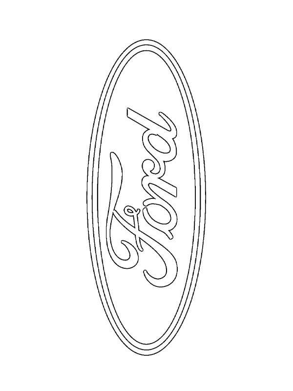 coloring page Ford logo