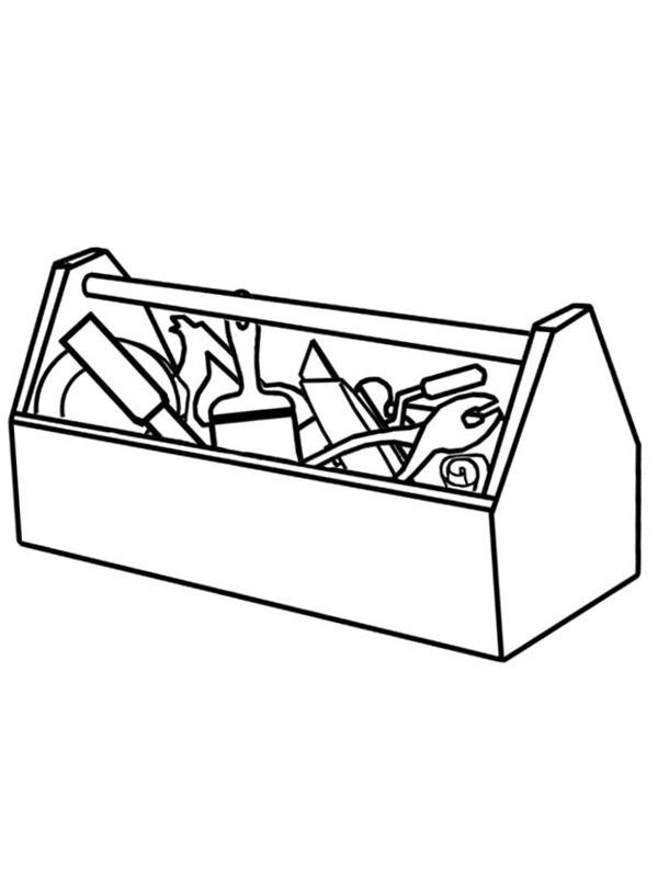 coloring page tool box
