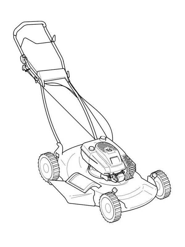 coloring page Lawn mower