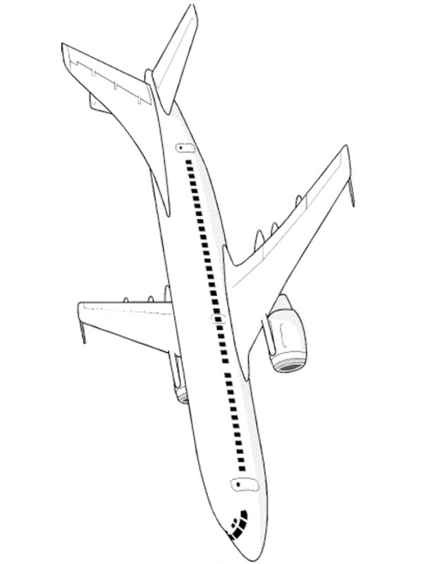 coloring page Large airplane
