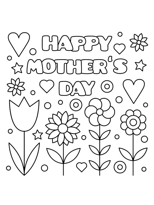 coloring page Happy Mothers day