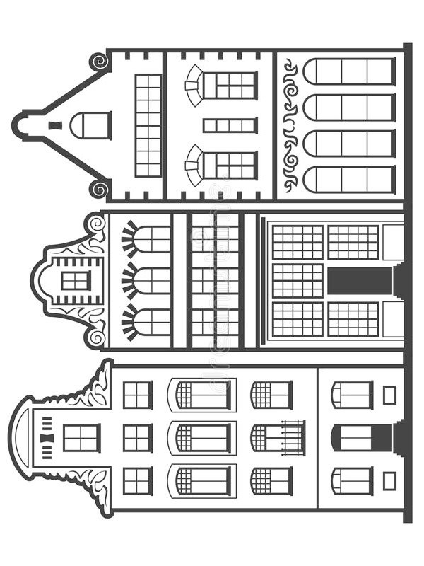 coloring page Houses in Amsterdam