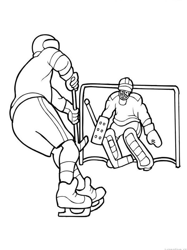 coloring page Icehockey players