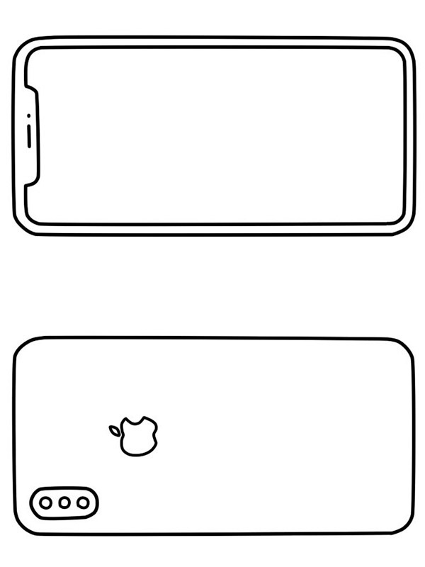 coloring page Apple iPhone