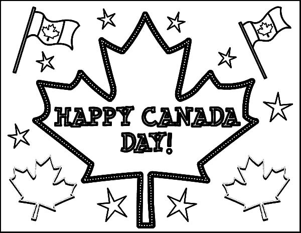 coloring page Happy Canada day