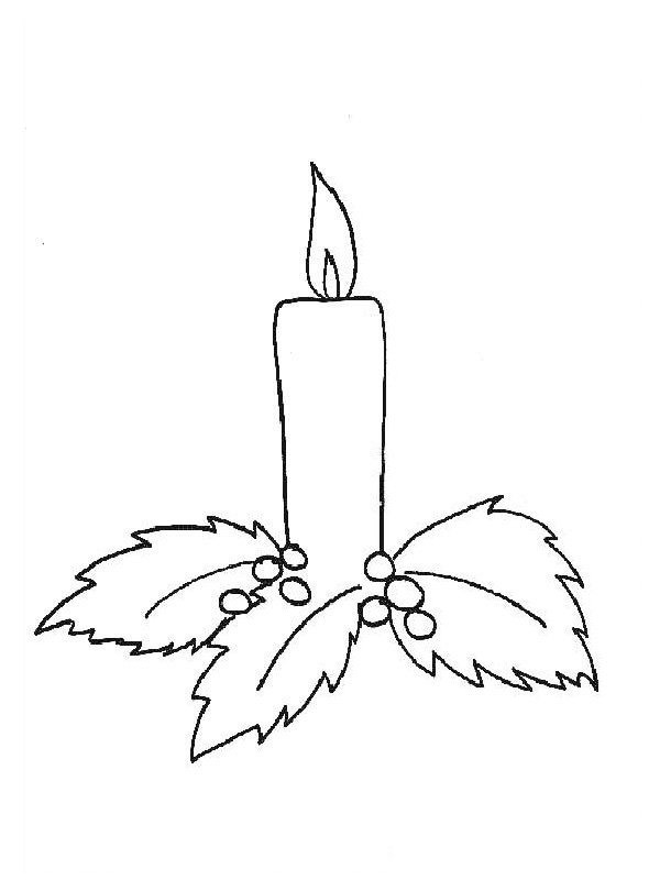 coloring page Candle