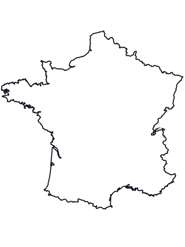 coloring page Map of France